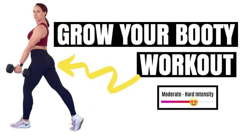 Penny Barnshow BOOTY WORKOUT FOR WOMEN Dumbbell Booty Bands Workout Силовая тренировка для ног и ягодиц с гантелями и фитнес резинкой