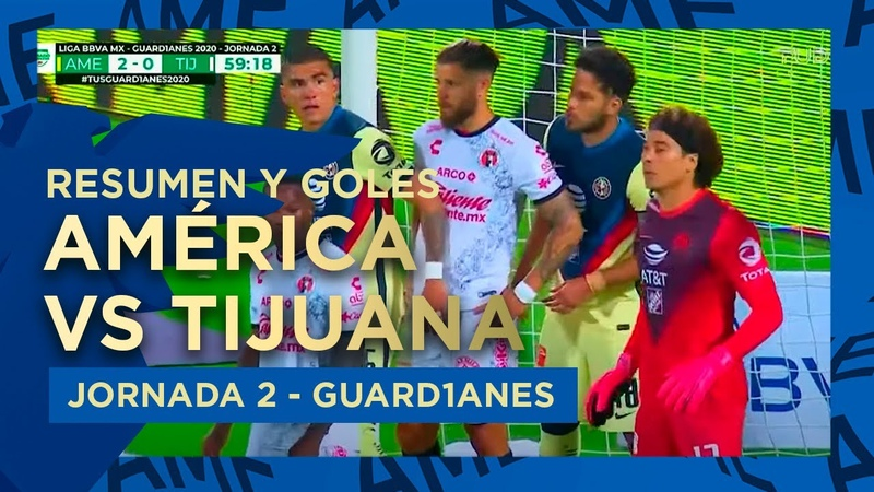 Resumen y goles América 4 0 Tijuana GUARD1ANES 2020 CU