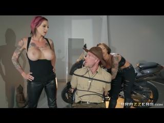 Anna Bell Peaks & Felicity Feline (Bloodthirsty Biker Babes: Part 3)[2018, Big Naturals,Big Tits,FFM,Threesome, 1080p]