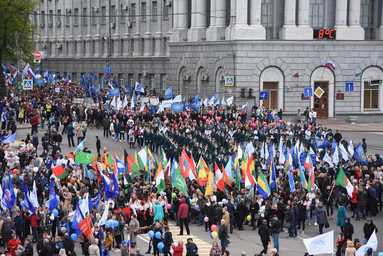 В Курске на первомайской демонстрации задержали
