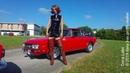 DANA LABO walking with tall boots and car lancia HF
