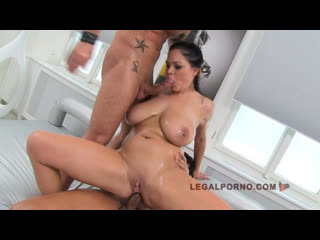 Shione Cooper - 2 big melons n anal, mfm double penetration dp anal porno