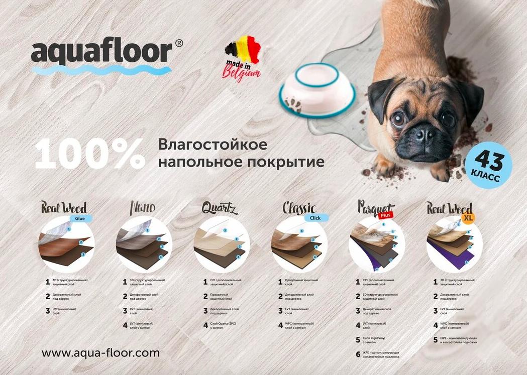 Кварц-винил Aquafloor  в Челябинске