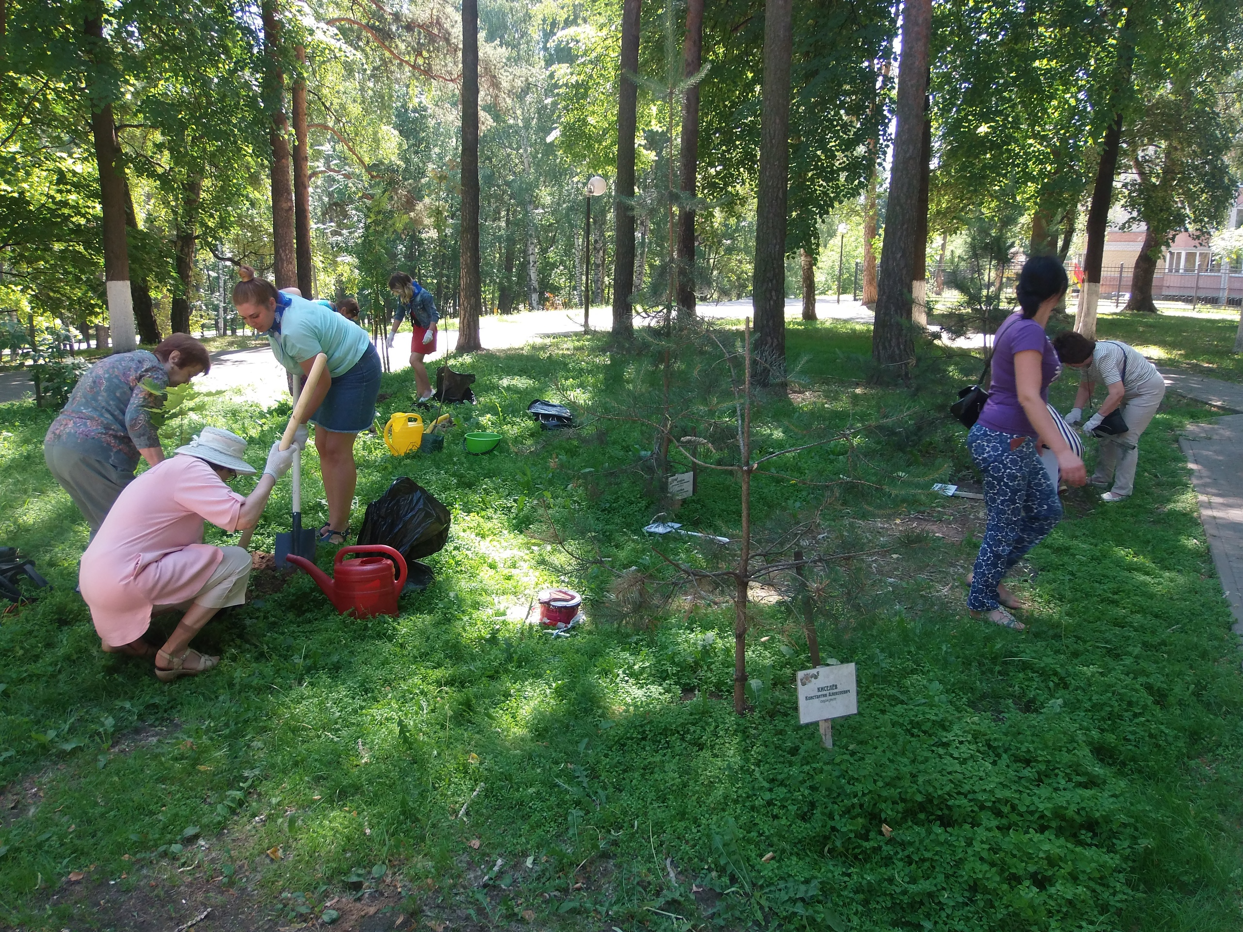 В парке Победы микрорайона «Липовая гора» прошла акция «Лес Победы».