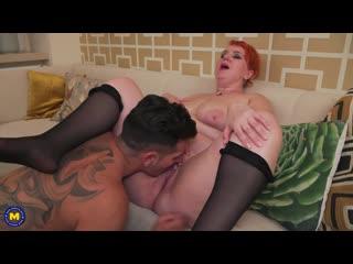 Katrin Porto - Toyboy sucking on big tits and giving a creampie - Porno, Big tits, Blowjob, Cum, Creampie, Toy boy, Porn, Порно