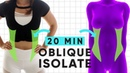 20 Minute Waist Shaping Workout   at home exercises for sleek obliques
