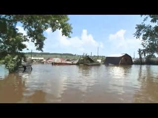 Вода начала постепенно уходить из затопленного Тулуна