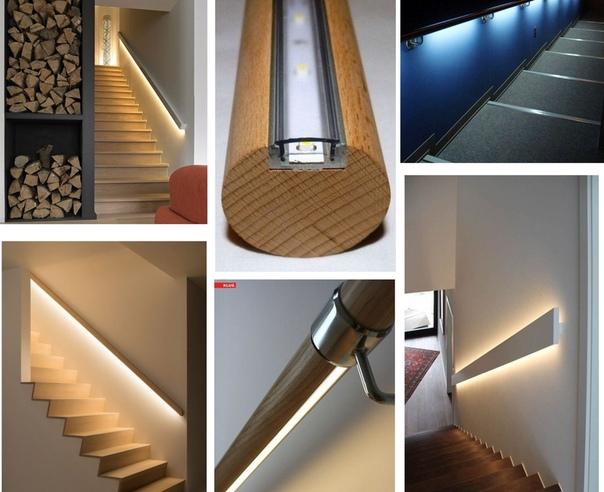 Хотите знать, как сделать подсветку в перилах лестницы