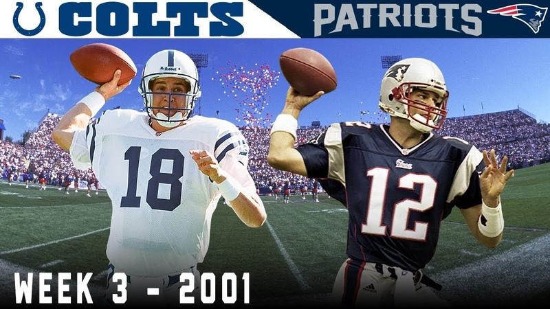 Tom Brady's FIRST Start Colts vs Patriots 2001