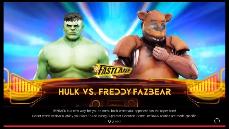 Hulk vs. Freddy Fazbear(WWE 2k19)