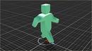 Анимация покоя атаки бега в Unity 5 экспорт нескольких анимаций из Blender 3D