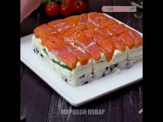 Как приготовить суши-торт
