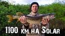1100 км. по рекам НАО на лодке Солар 520 ч.1 Рыбалка на спиннинг Щука с овощами на воке.