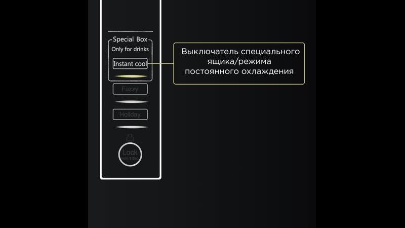 Управление холодильником Haier с помощью встроенной сенсорной панели