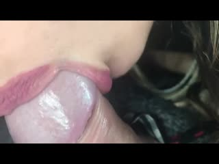 Car Head by 18 Years old Teen and Cum Swallow