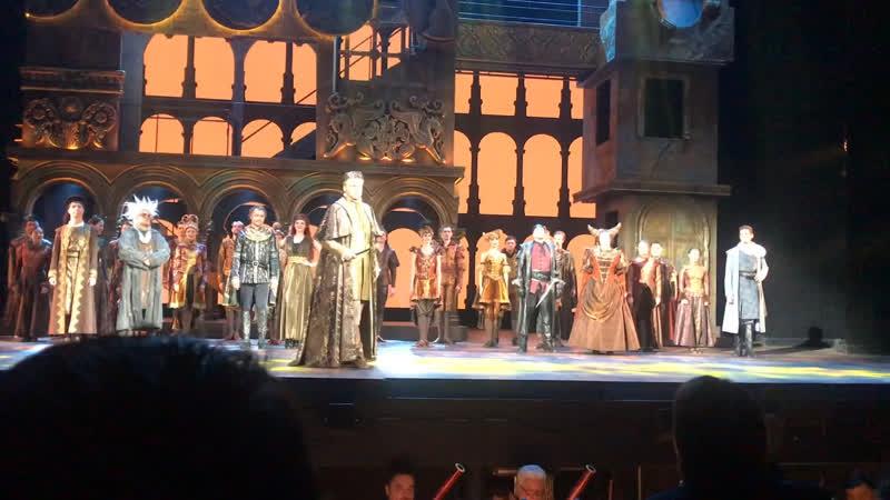 И сегодня я естественно прошел на любимый мюзикл Ромэо и Джульетта прекрасные песни оркестр довели меня до слез
