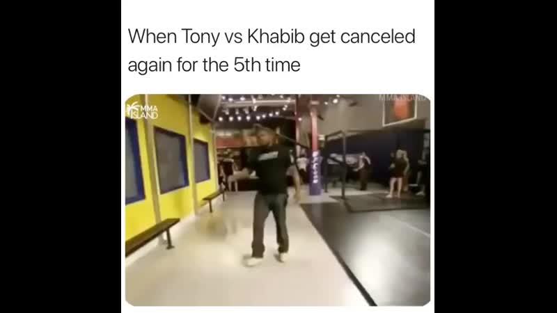 Когда очередной раз сорвался бой Хабиба и Тони