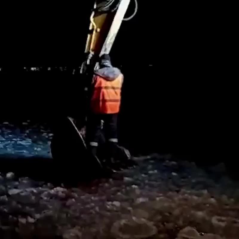 В Екатеринбурге строители спасли провалившуюся под лед собаку: