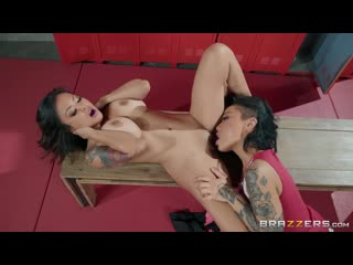 Honey Gold and Kaylani Lei - Fucking The Locker Room Perv [Lesbian]