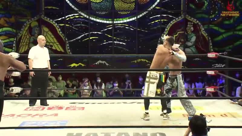 Team Toryumon Dragon Kid Ryo Saito Ultimo Dragon vs Team Dragon Gate Ben K Kzy Strong Machine J
