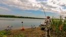 Карпы клюют один за другим не успеваем наживлять Рыбалка с ночевкой на реке с корабликом Часть 1