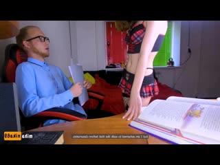 Школьница совратила репетитора (mihanika69 miha nika школьная форма учитель студентка любительское school совратила young teen