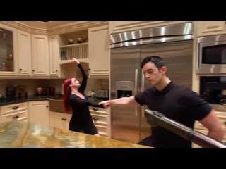 This kitchen is for dancing  Jordan Frisbee & Larissa Thayane.