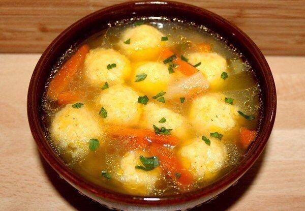 Крутой Супчик с сырными клёцками