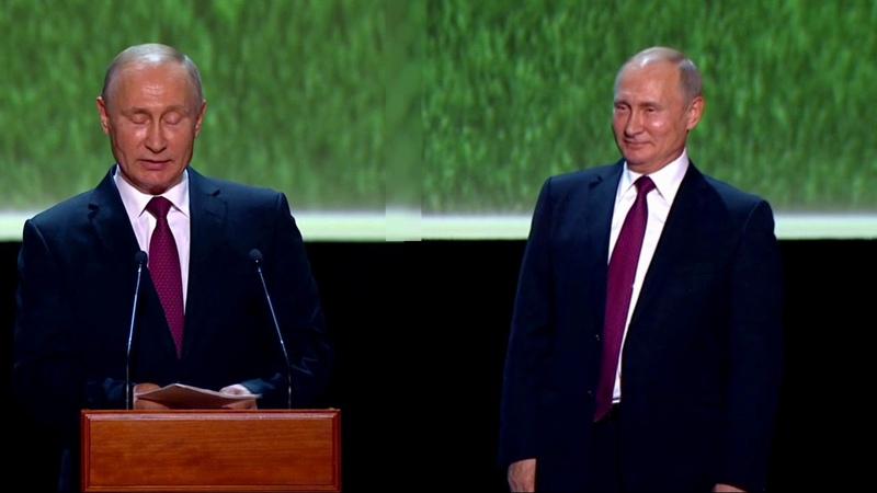двойники Путина не поделили трибуну