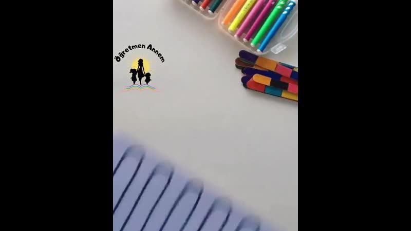 Игра с палочками развивающая внимательность и цветовое восприятие From @ogretmen annem