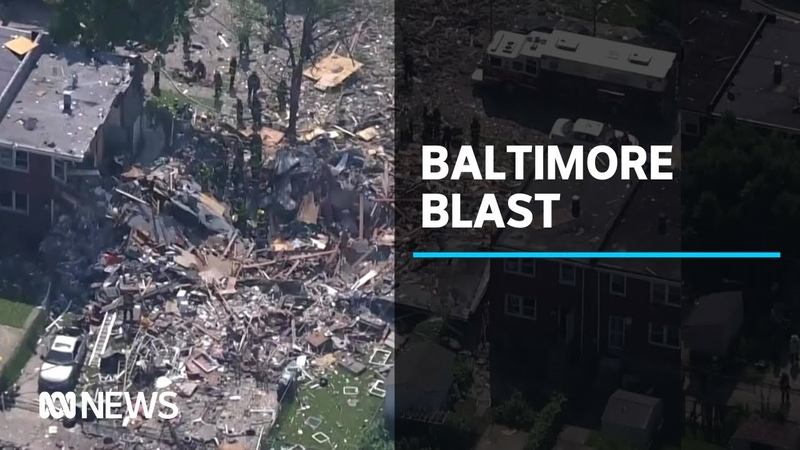 Major gas explosion destroys houses in Baltimore USA ABC News