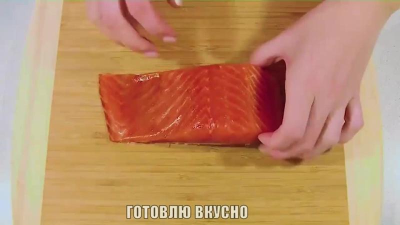 Закуска «Розочки» из красной рыбы с сыром и чесноком! Объедение!
