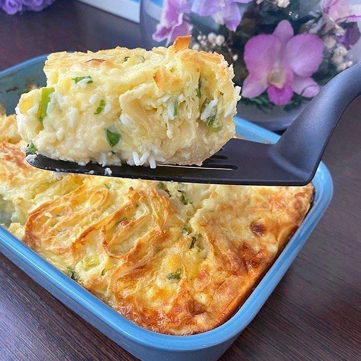 Пирог с сыром и яйцом