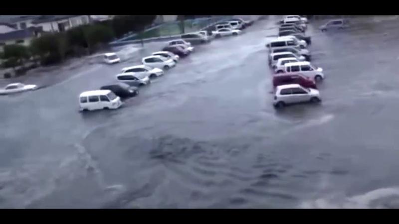Эксклюзив! Редкие кадры цунами в Японии. Реальные съемки людей начала наводнения и прихода цунами.