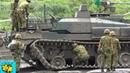10式戦車 演習中思わぬアクシデントに見舞われたが・・90式回収車により牽引。: The unexpected accident of a type-10 tank.