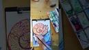 Онлайн урок по созданию улитки восковыми мелками и акварелью от Полины Русаковой
