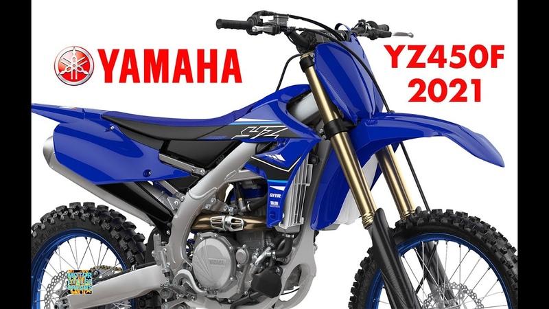 2021 new Yamaha YZ450F 4-stroke Motocross studio details action photos