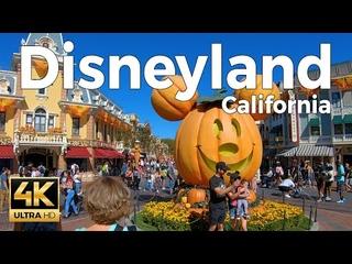 Disneyland California Walking Tour -  Halloween  (4k Ultra HD 60fps)