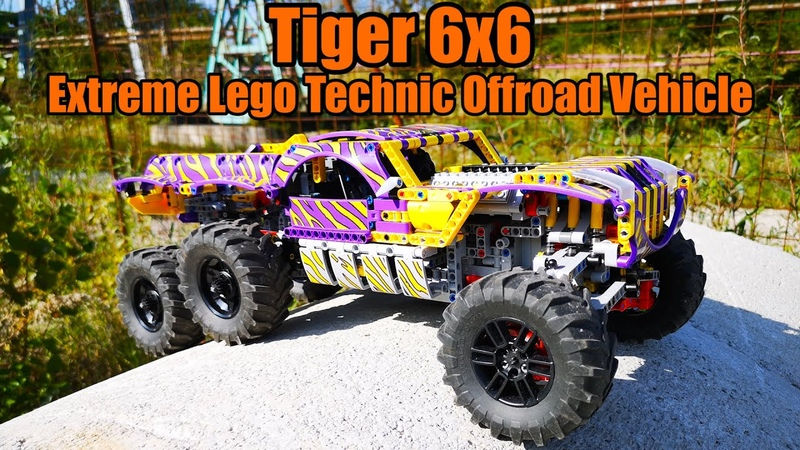 Tiger 6x6 - BuWizz powered Extreme Lego Technic Offroad Vehicle