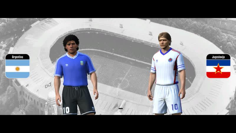 ЧМ 90. 1/4 финала. Аргентина - Югославия