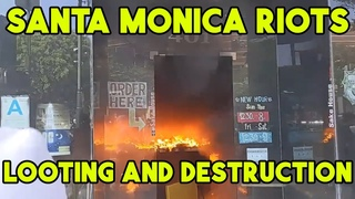 INSANE LOOTING and RIOTS in Santa Monica! 🔥🚒
