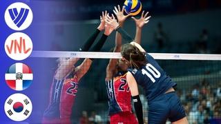 Korea vs Dominican Republic - Full Match | Preliminary Round | Women's VNL 2018