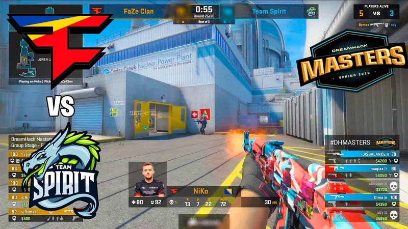 EPIC GAME New FaZe Clan vs Spirit DreamHack Masters BEST MOMENTS CSGO