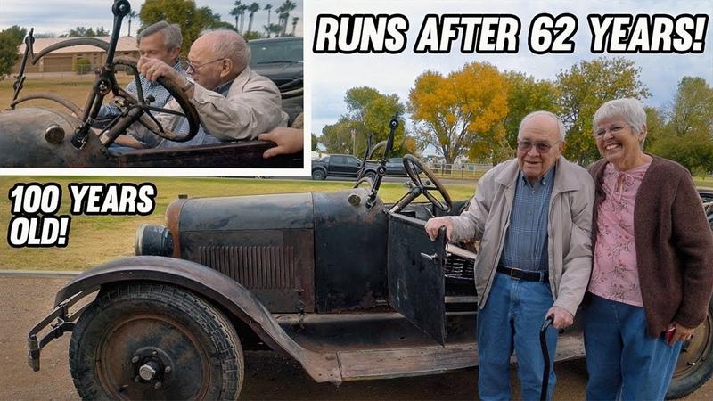 Посмотрите как дедушка запускает свой первый автомобиль спустя 62 года