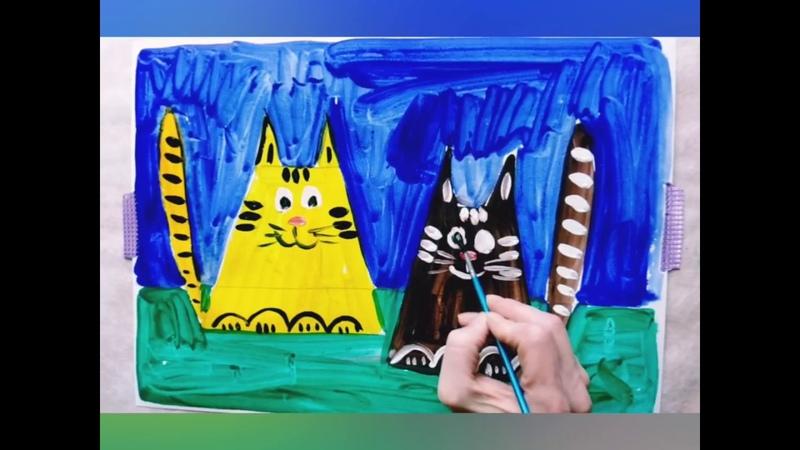 Как нарисовать кота Урок рисования поэтапно Для детей 4 5 6 7 лет