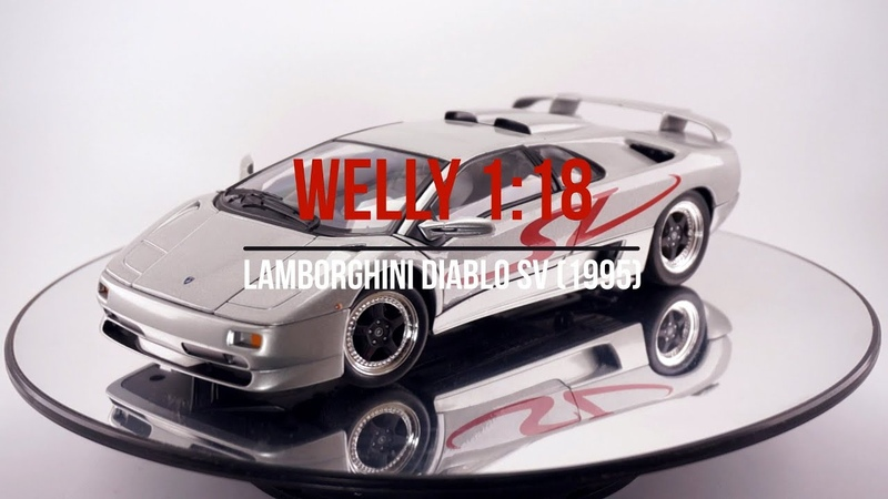 Welly 118 Lamborghini Diablo SV (1995) Grey