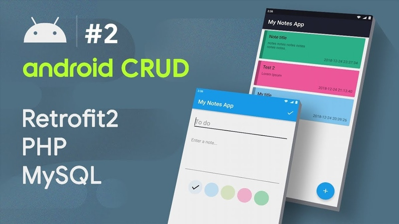 COLOR PICKER 🎨 PALETTE ANDROID - 2 - Android CRUD Tutorial | • RETROFIT • PHP • MYSQL HD