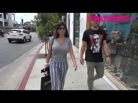 Porn Star Mia Khalifa Goes Sunglasses Shopping At Cutler And Gross On Melrose Avenue