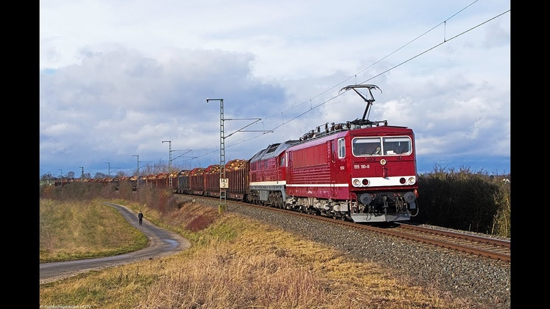 WFL 155 232 mit Holzzug, Karlsruher Steuerwagen, I am European uvm. auf der Frankenwaldbahn