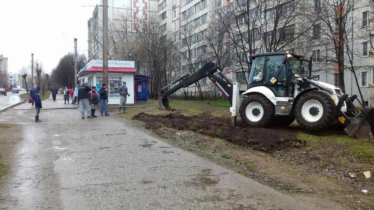 Проспект Строителей, 46. Планировка территории.